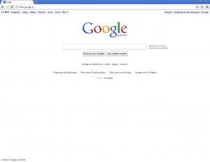 Pagina inicio google