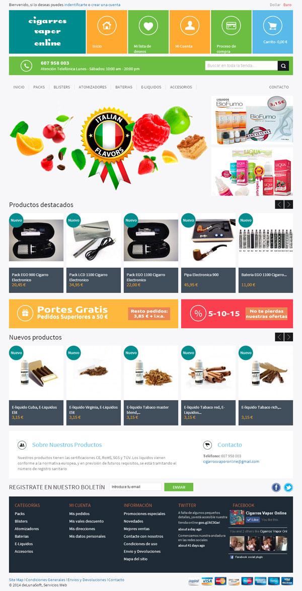 Vapeo Online, tienda online cigarros electrónicos
